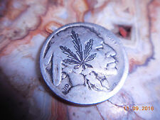 Pre-1935 Hobo Nickel Cannabis Leaf Indian Head Marijuana Weed Reefer coin