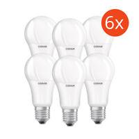 6er-Pack Osram LED BASE A100 E27 14W Warmweiß (2700K) oder Weiß (4000K) wie 100W