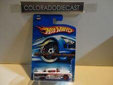 2005 Hot Wheels #147 White 1957 Cadillac Eldorado Brougham w/Red 3 Spoke Wheels
