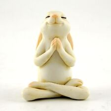 Miniature Yoga Bunny Seated Namaste Pose TO 4391 Fairy Garden  Bunny Rabbit
