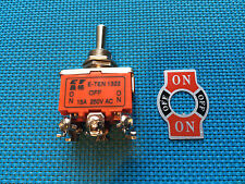 TOGGLE SWITCH DPDT 6 PIN 12mm ON  / OFF / ON 3 POSITION  AC / DC 15A @ 250V