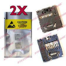 2 x New Memory SD Card Reader Slot Socket Sony Xperia Play Z1 Z1i R800 R800 USA