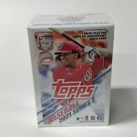2021 Series 1 Topps Baseball Blaster Box - 7 Packs + Anniversary Patch Card  NEW
