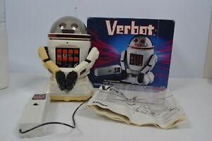 Tomy Verbot The Programmable Robot 1984 #5401 Box Multicolor White Tan