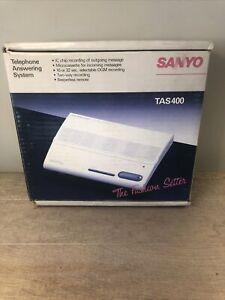 NOS Sanyo Answering Machine TAS 400 Microcassette Beeperless