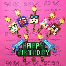 Happy Birthday Pixel Set (StampyLongNose DanTDM iBallisticSquid AmyLee)