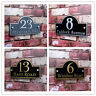 Customized Acrylic House Number Sign Door Apartment Plaque Plate 25x15CM