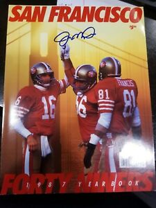 JOE MONTANA SIGNED 1987 SAN FRANCISCO 49ERS AUTO AUTOGRAPH COA AND PHOTO PROOF
