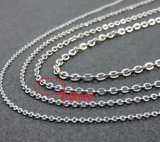 """18"""" 2.5mm Stainless Steel Link Chain for Pendant Silver Tone Necklace STlnk2.5S"""