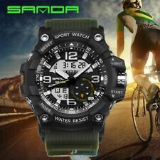 Reloj de Hombre Militar Cuero Cuarzo Decoración Digital Reloj Pulsera Deportivo