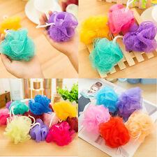 5 PCS Puff Sponge Scrub Compact Mesh Net Bath Ball Bath Shower Random Color