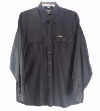 GUESS Men's Vintage Black Cotton Button Shirt (XL)
