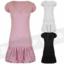 V-Neck Short Sleeve Dresses for Women with Buttons