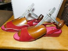 Clothes~Bc Footwear Red Open Toe Sandle Style Womans Size 8 Medium Shoes