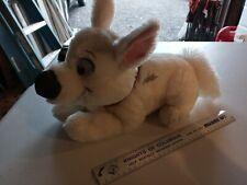 "Disney Store Bolt 16"" Laying Down Dog Red Collar Plush Stuffed Animal HTF Rare"