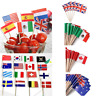 50pc World Country Flag Toothpick Cake Toppers Food Cupcake Sandwich Picks Party