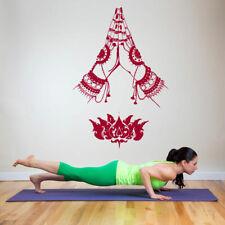 Wall Decal Vinyl Sticker Decals yoga lotus Hindu hands tattoo beautiful bo2628