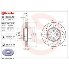 Disco freno (2 pezzi) BREMBO XTRA Line-BREMBO 09.9078.1x