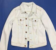 HM jacket jeans donna usato destroyed giacchetta giubbotto giacca tg 42 T362