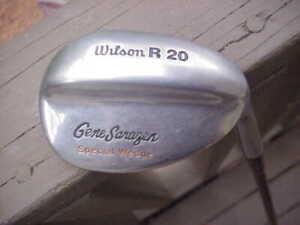 Wilson Gene Sarazen R-20 Special Wedge Brown Coated Steel Shaft Excellent