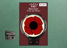 Royale Classic Car Badge & Bar Clip POPPY BADGE 10% to British Legion B1.2479