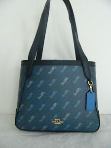 NWT COACH HORSE AND CARRIAGE TOTE 27 WITH HORSE AND CARRIAGE DOT PRINT C4060