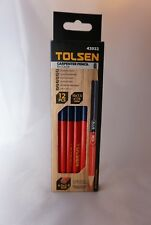 Pack of 12 Carpenter Pencils Bi-color Blue + Red 42022