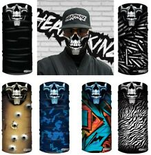 FACE MASK / BANDANA - SKULL FACE 6 BANDANA BUNDLE - (Motorbike,Fishing,Camping)