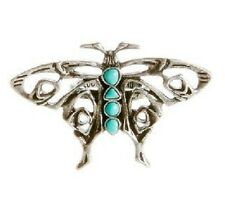 NEW LUCKY BRAND SILVER TONE,TURQUOISE BUTTERFLY RING SIZE 7 JLRY7141