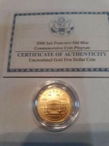 2006 San Francisco Uncirculated Gold Five Dollar Coin