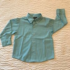 Perry Ellis Boy's Size 4T Blue Button Down Toddler Long Sleeve Dress Shirt