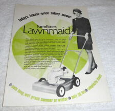 Rare vintage 1950's Farmfitters Lawnmaid sales leaflet in mint condition