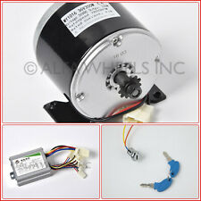 350 W 36 V 36V GoKart electric motor 1016 kit w speed controller & key switch