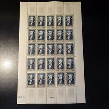 FEUILLE SHEET ESCRITOR FLAUBERT Nº930 x25 1952 NEUF LUXE MNH