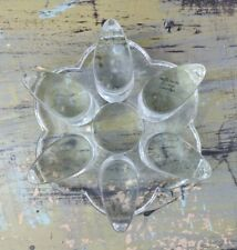 Souffle Bouche Fait Main Handarbeit Heavy Glass Teapot Warmer Flower Pattern