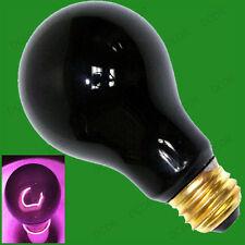 6x 75W UV Effect Blacklight ES E27 Light Bulbs, DJ Disco, Halloween Effects Lamp