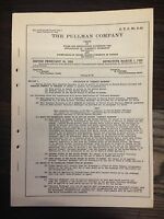 February 20, 1953 The Pullman Company Currency Exchange Tariff Supplement