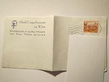 Wien - Akad. Corps Saxonia zu Wien - Briefumschlag 1991 / Studentika