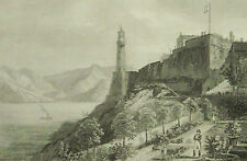 1836:PORTOFERRAIO.Isola d'Elba Stampa.AUDOT.Acciaio.