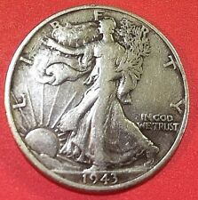 "1943--""P""  Liberty Walking ""SILVER"" Half Dollar       #909vf"