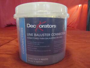 Deckorators Regular Round Baluster Connectors ( 130 pcs ) OPEN BOX