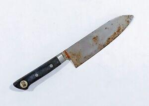 VINTAGE santoku knife chef Yanagiba Takayuki whetstone naniwa Sujihiki Yoshihiro