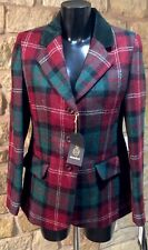 Harris Tweed Hand Woven Ladies Pure Wool Jacket Coat Size 10 12 14 16 18