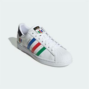 Adidas Superstar Trainers White Black Authentic Brand New