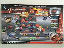 Super Car Park Parking Lot Garage City Racing Cars Track Set Toy Kids Boy Gift