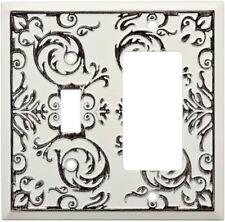 Fairhope Single Switch Decorator Wall Plate White Wash W27111-WW