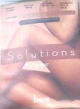 NIP Sz. Small Hanes Solutions Boy Cut Panty Invisible Sheer Leg Black Pantyhose