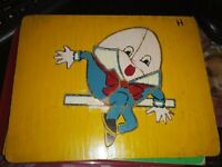 RARE! ~ Vintage Humpty Dumpty Wooden Puzzle ~ Very Old Kindergarten Puzzle