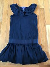 Ralph Lauren Girls Size 4 4T Black Sleeveless Ruffle Casual Church Party Dress