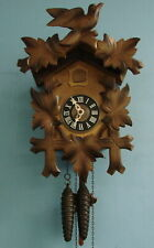 Vtg Black Forest W Germany Cuckoo Clock One Day Chime All Original Works GREAT